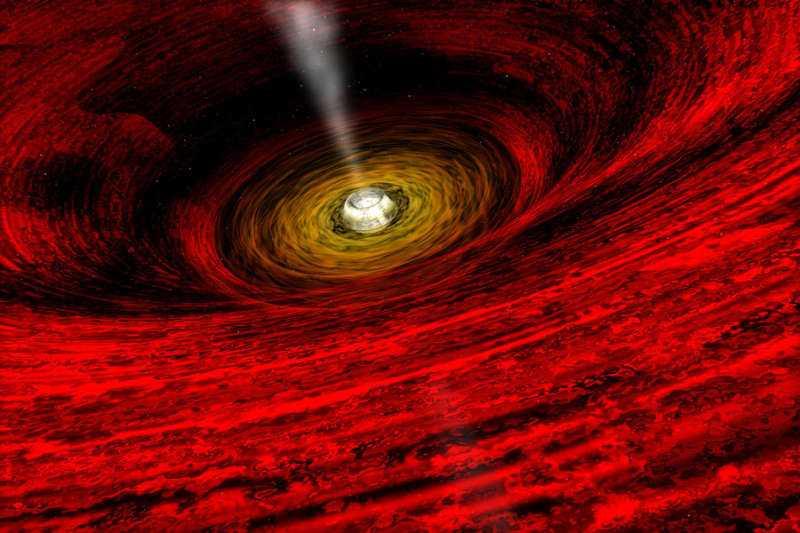 GROJ165540 вращающаяся черная дыра