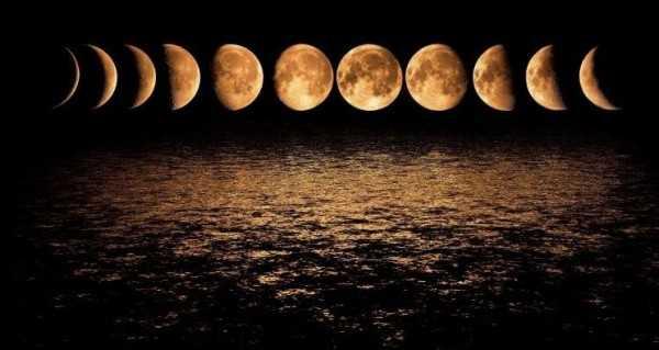 Фазы луны с Земли
