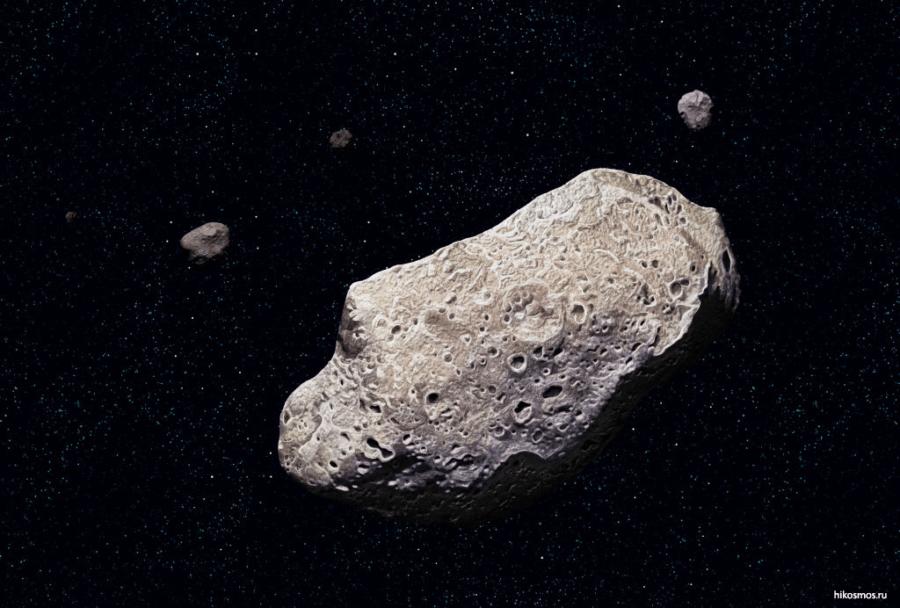 Астероид двигающийся к земле