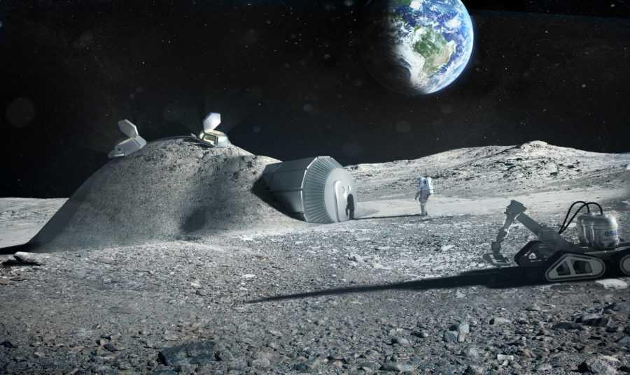 Лунная база на 3Д принтере