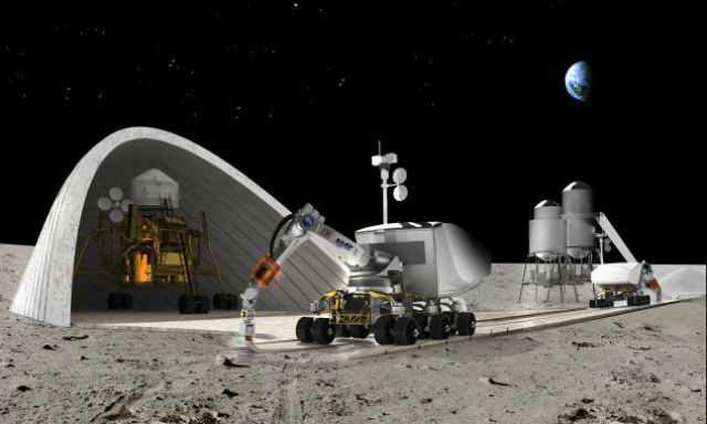 NASA стройка на Луне