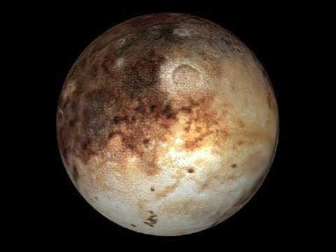 Плутон из иллюминатора спутника