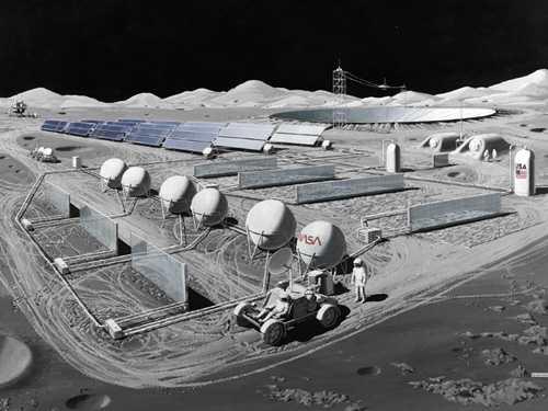 Проект базы на Луне