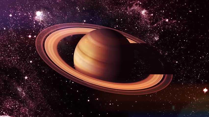 Сатурн в космосе