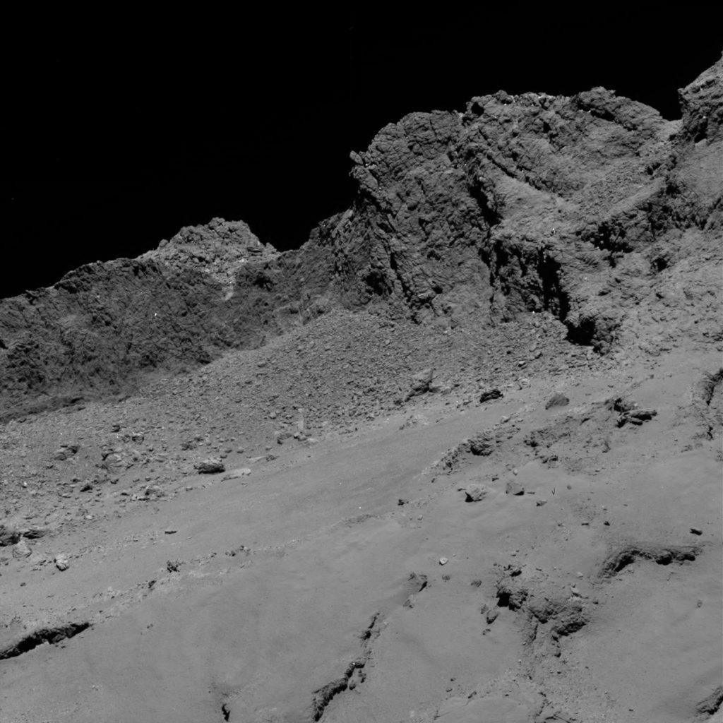 Поверхность кометы снятое Розеткой