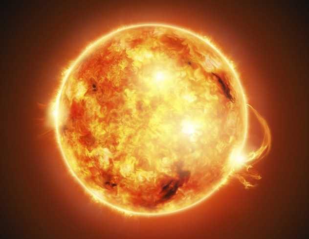Солнечная корона с телескопа