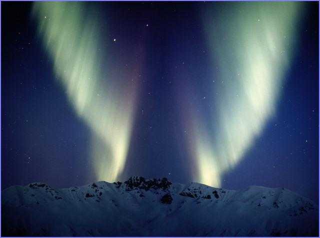 Зимнее полярное сияние