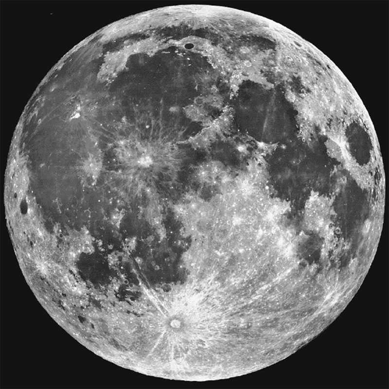 Луна с телескопа