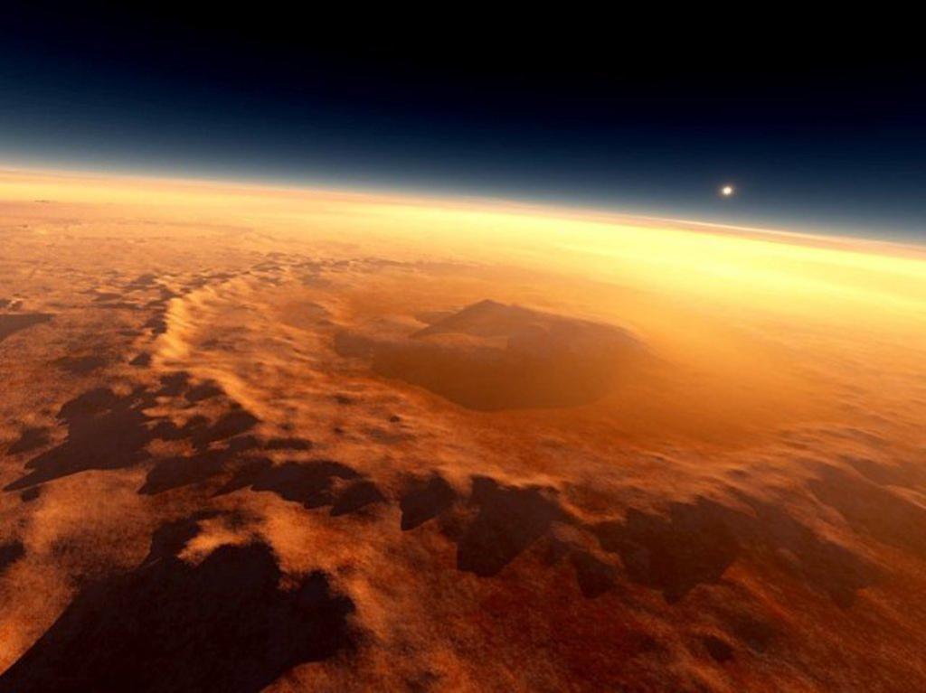 Солнечные ветра на Марсе