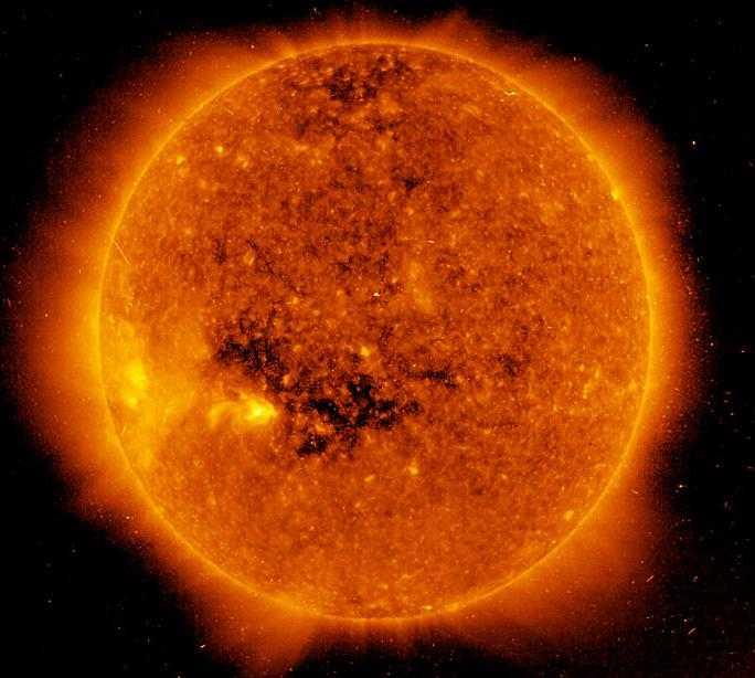 Темные участки на Солнце