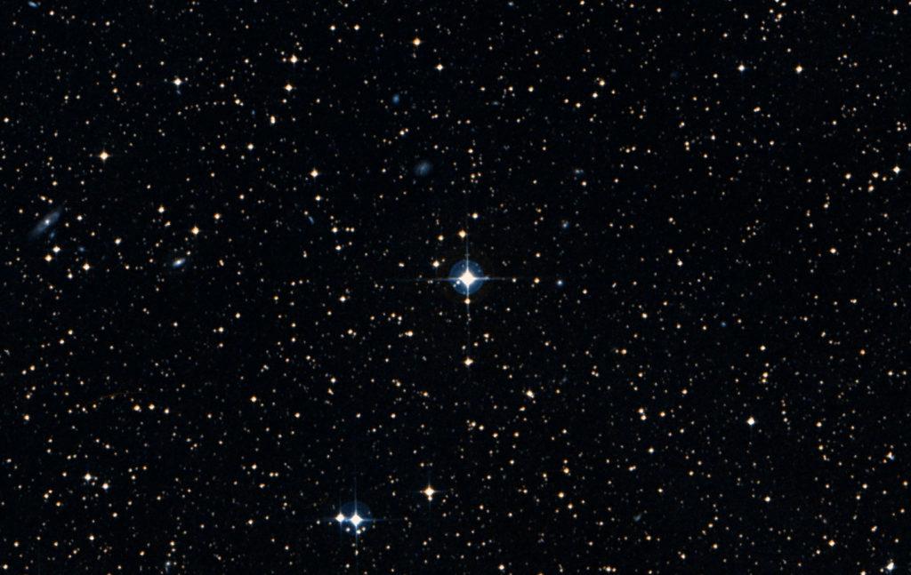 Звезда Пшибыльского медленно вращается