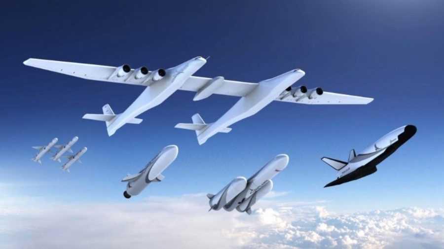 Испытательные фотографиистратоластов: самый большой в мире самолет в действии
