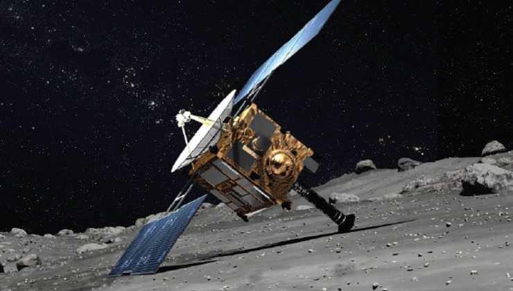 Астероид Рюгу - Хаябуса-2 на поверхности