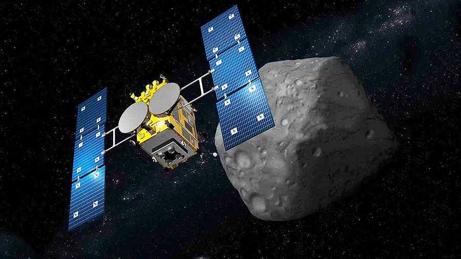 Хаябуса-2 в приближении с астероидом