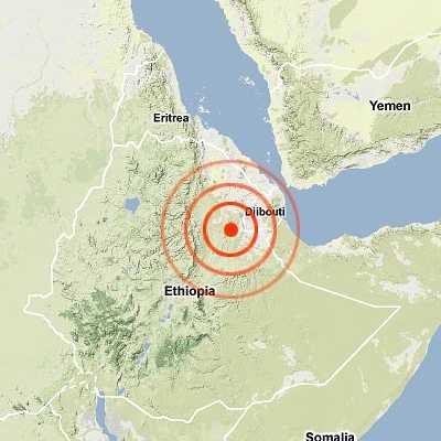 Землетрясение в Эфиопии