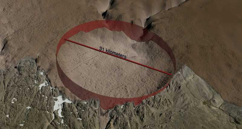 Диаметр кратера Гайаватa