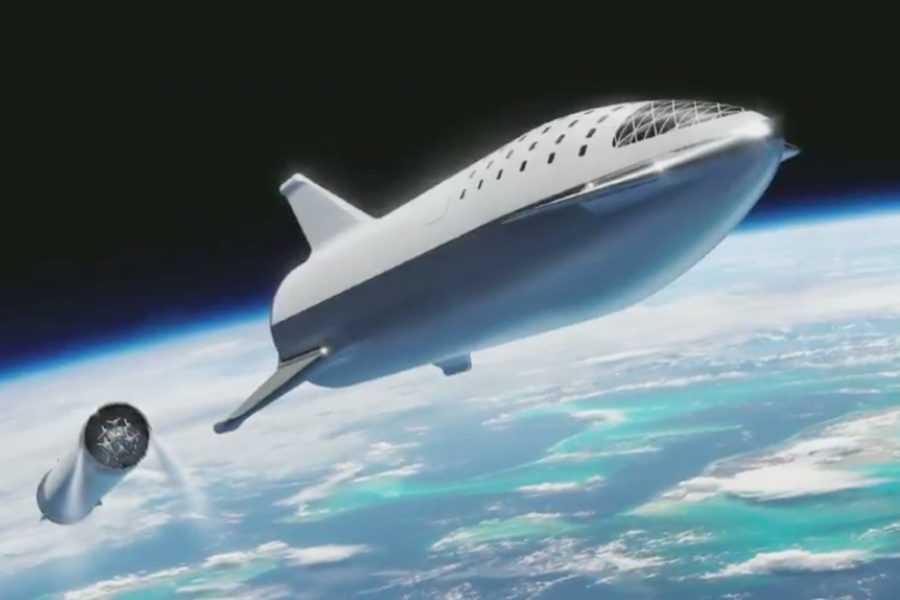 Илон Маск - как будет выглядеть BFR в полёте