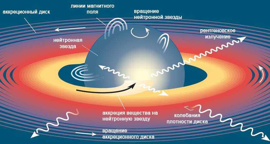 Схема нейтронной звезды