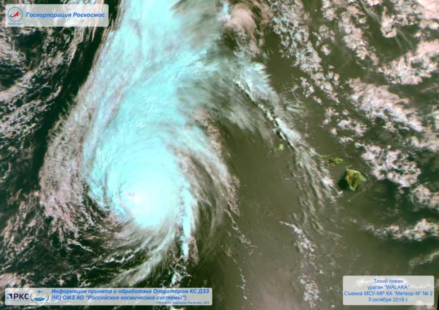 Ураган Валака от РОСКОСМОСа