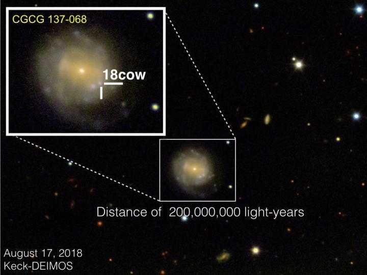Изображение сверхновой AT2018cow