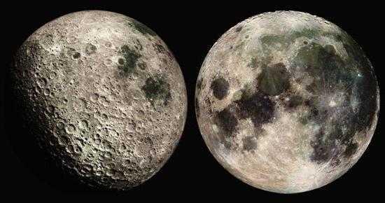 Обратная сторона Луны. Источник фото: Fb.ru