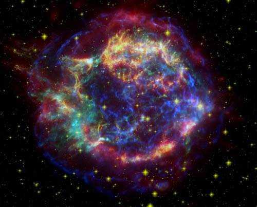 SN 2005E - Снимок орбитального ИК-телескопа Spitzer Источник снимка: https://www.popmech.ru/science/9229-netipichnaya-katastrofa-novaya-sverkhnovaya/