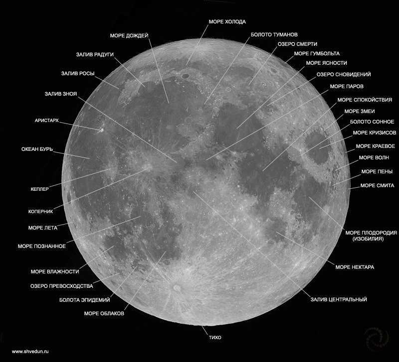 Название морей Луны