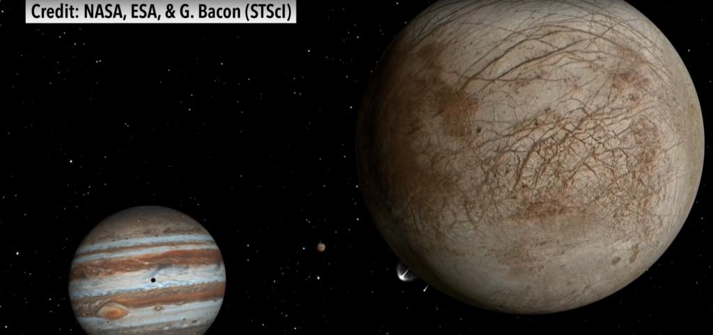 Юпитер и его спутник Европа